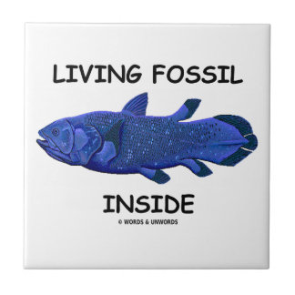 Living Fossil Inside (Coelacanth) Ceramic Tile