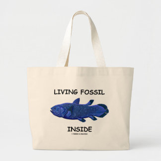 Living Fossil Inside (Coelacanth) Large Tote Bag