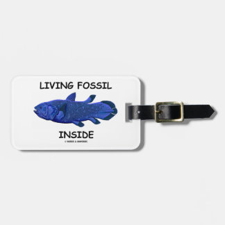 Living Fossil Inside (Coelacanth) Luggage Tag
