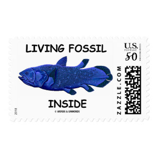 Living Fossil Inside (Coelacanth) Postage