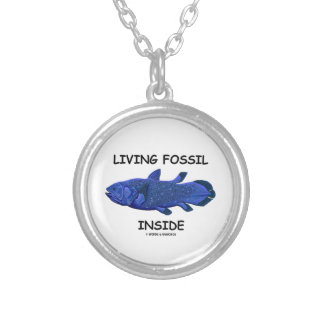 Living Fossil Inside (Coelacanth) Silver Plated Necklace