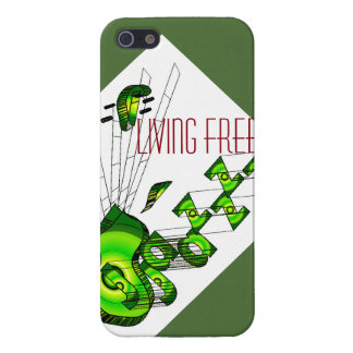 Living free with jazz iPhone SE/5/5s cover