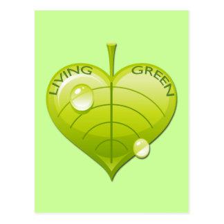 LIVING GREEN LEAF POSTCARD