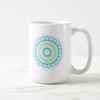 Living Green Mandala kaleidoscope Classic White Coffee Mug
