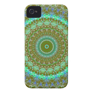 Living Green Mandala kaleidoscope iPhone 4 4s case