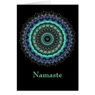 Living Green Mandala Namaste note card