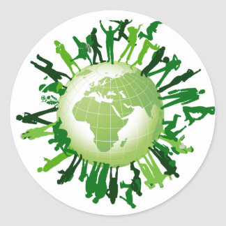 Living Green: Our Green Earth Classic Round Sticker