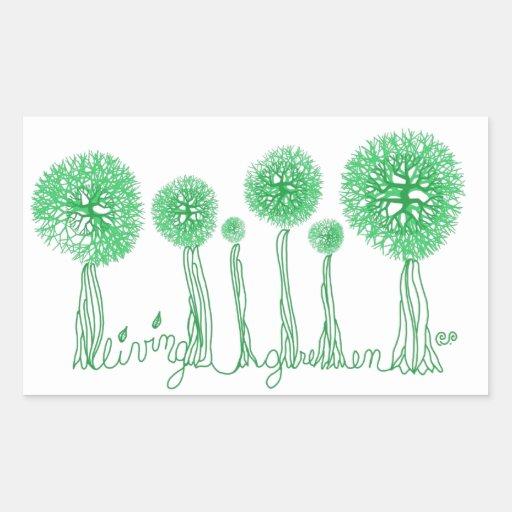 Living Green Rectangle Sticker