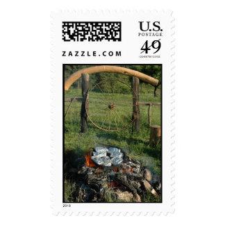 Living Happy Postage Stamp