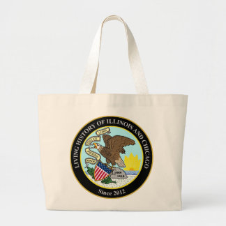 Living History of Illinois and Chicago® Group Large Tote Bag