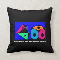Living in a Rainbow Box Throw Pillow