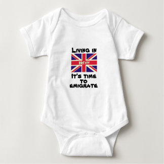 Living in Brexit, it's time to emigrate UK Flag T Shirt