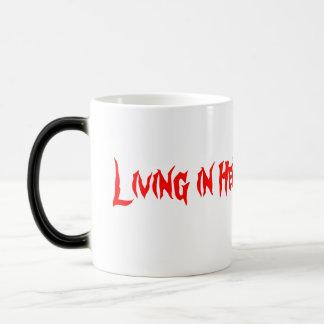 Living in bright magic mug