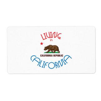 Living in California Label