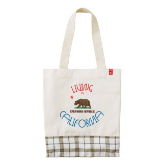 Living in California Zazzle HEART Tote Bag