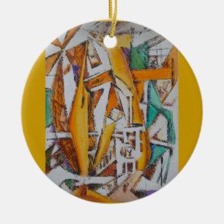 Living in Color Round Ceramic Ornament