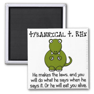 Living in fear of tyrants 2 inch square magnet