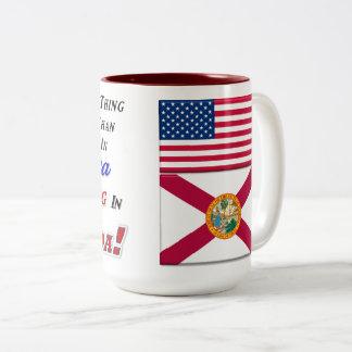 Living In Florida! 15 oz Two-Tone Mug