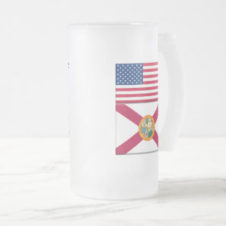 Living In Florida! 16 oz Frosted Glass Mug