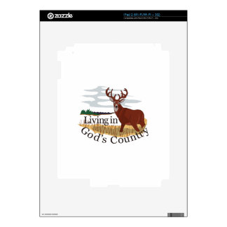 Living in Gods Country Skin For iPad 2