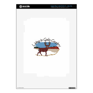 Living in Gods Country Skins For iPad 3