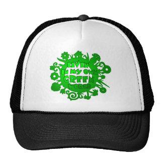 Living In My Own Green World Trucker Hat