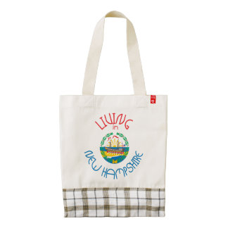 Living in New Hampshire Zazzle HEART Tote Bag