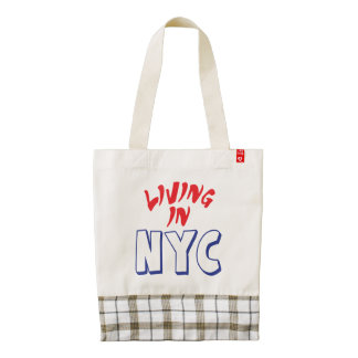 Living in NYC Zazzle HEART Tote Bag