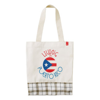 Living in Puerto Rico Zazzle HEART Tote Bag