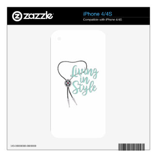 Living In Style iPhone 4S Decal