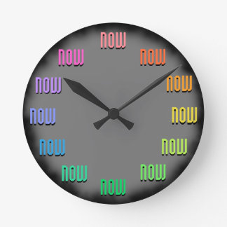 Living in the Now ;-) Round Clock