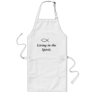 """Living in the Spirit"" with Ichthys Long Apron"