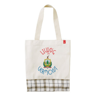 Living in Vermont Zazzle HEART Tote Bag