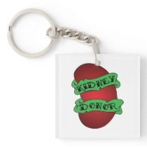 Living Kidney Donor Tattoo Keychain