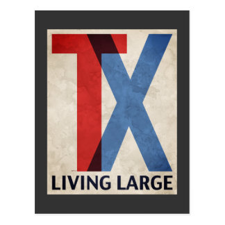 Living Large In Texas Postcard