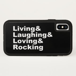 Living&Laughing&Loving&ROCKING (wht) iPhone X Case