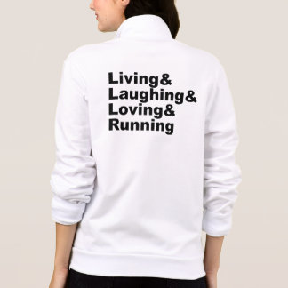 Living&Laughing&Loving&RUNNING (blk) Jacket