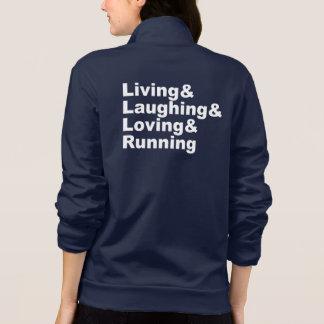 Living&Laughing&Loving&RUNNING (wht) Jacket
