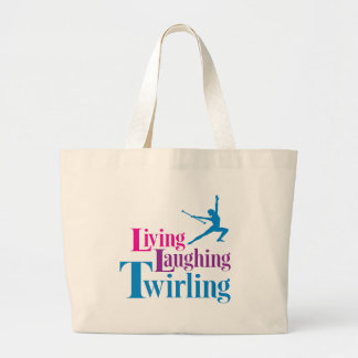 Living Laughing Twirling Canvas Bags