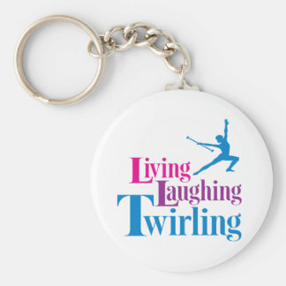 Living Laughing Twirling Keychain