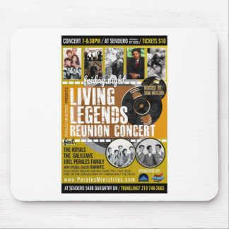 LIVING LEGENDS REUNION CONCERT POSTER MOUSE PAD