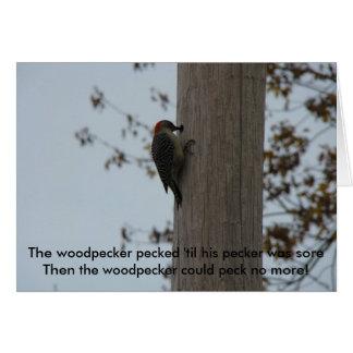 Living/Life,The woodpecker pecked 'til his ... Card