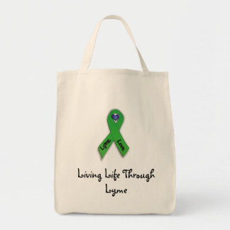 Living Life Through Lyme Tote Bags