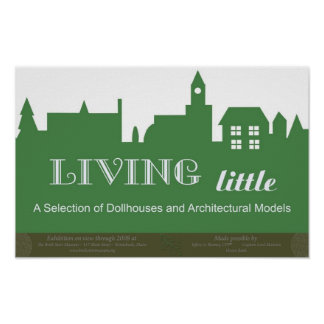 Living Little exhibition poster