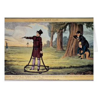 Living Made Easy; duelling apparatus Greeting Card