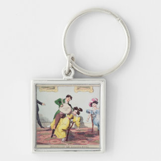 Living Made Easy: Prescription for scolding Silver-Colored Square Keychain