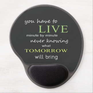 Living Minute by Minute Gel Mouse Mat