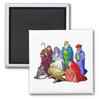 Living Nativity_Magnet 2 Inch Square Magnet