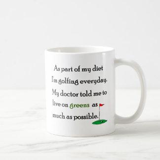 Living On Greens Coffee Mugs