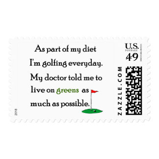 Living On Greens Postage Stamps